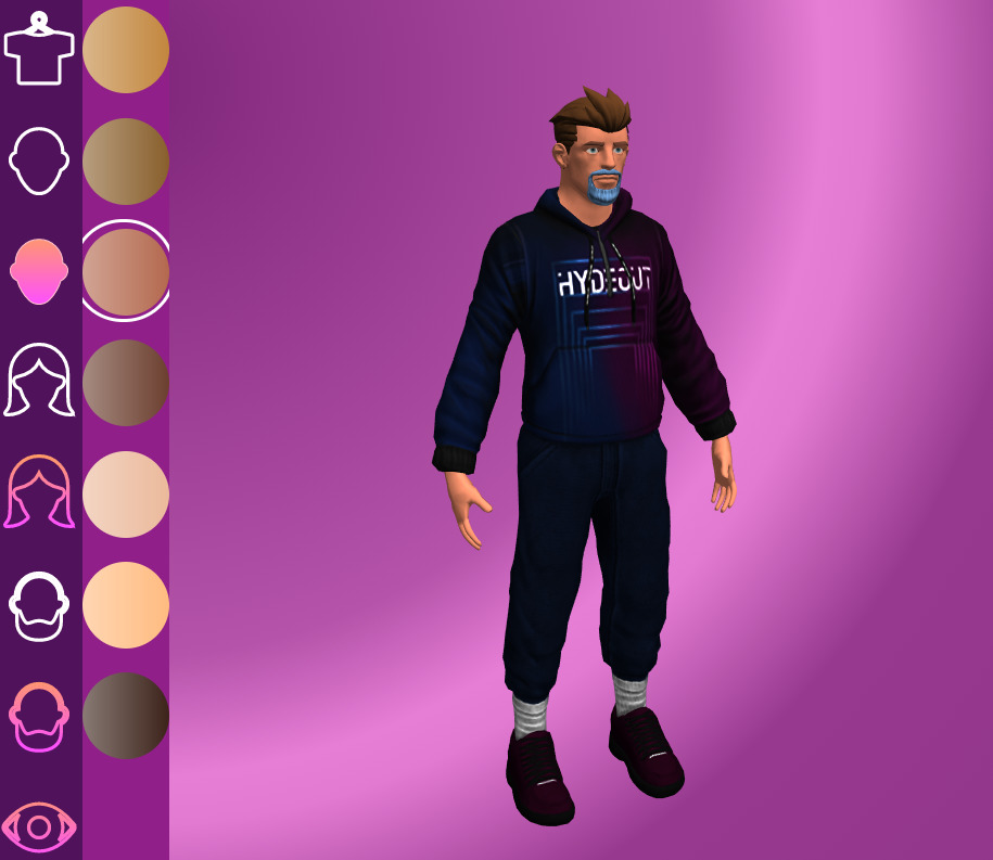 Hydeout: The Prelude Avatar Customisation Male
