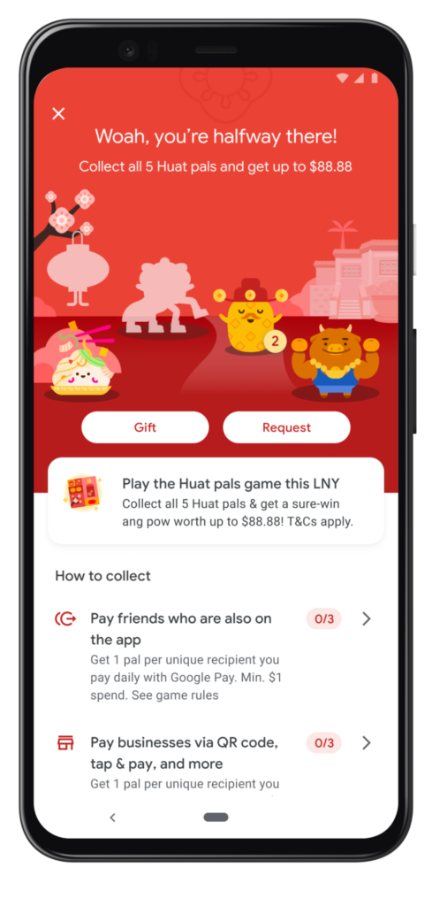 Google Pay Huat Pals: UI