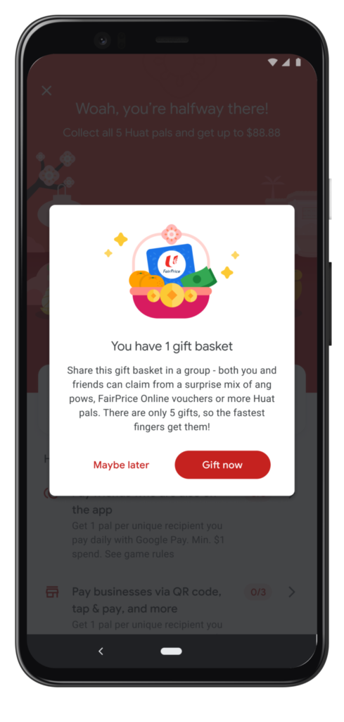 Google Pay Huat Pals: Gift basket