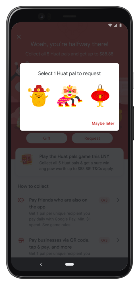 Google Pay Huat Pals: Request Picker