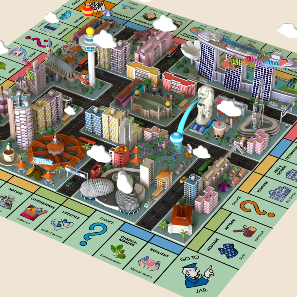 Monopoly Explore! SG Full Gameboard