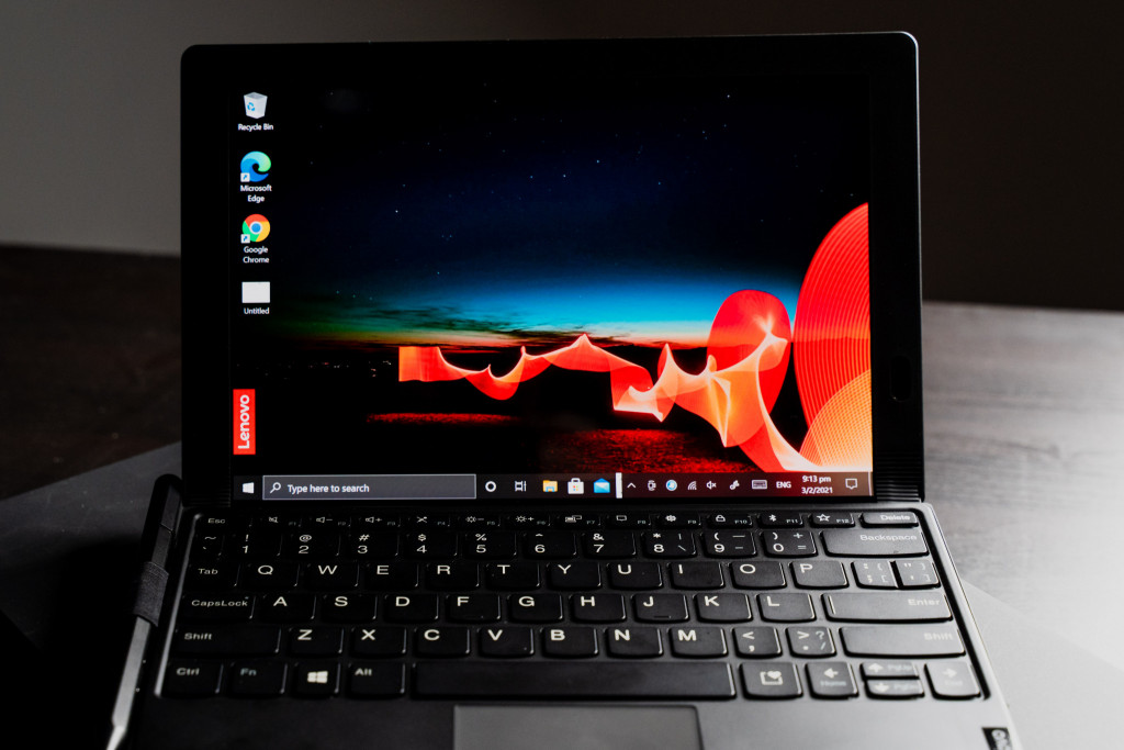 Lenovo X1 Fold: Laptop Mode